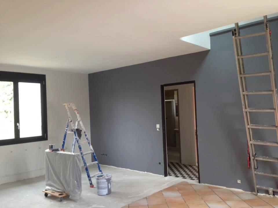 plafond et mur teinté