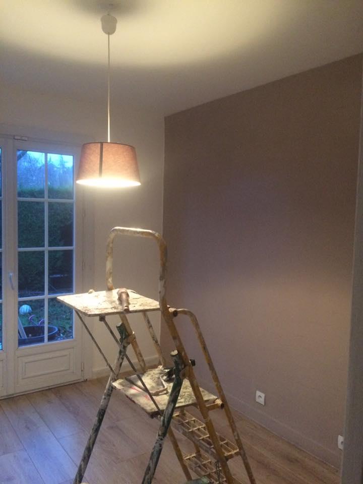 chambre mur teinté