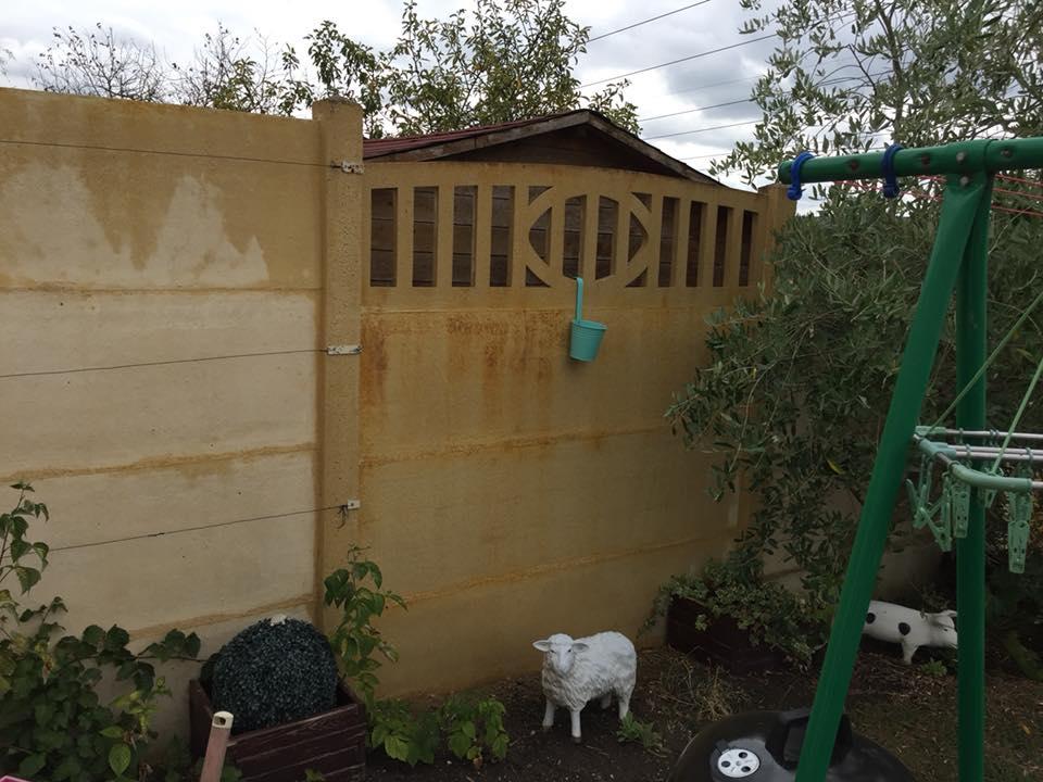 mur d'enceinte avant traitement